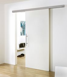Our modern barn door hardware is made of high quality stainless steel. The MWE Supra modern barn door hardware has can be used in residential or commdercial applications. Stainlessdoorhardware.com provides high quality designer barn door hardware at low prices.