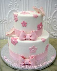 Simple Cake Designs For Baby Girl : 1000+ images about Baby Shower Cakes on Pinterest Baby ...