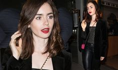 She may not be French, but Lily Collins looked the Parisian bombshell when she stepped out in the romantic city on Monday night. The 28-year-old was spotted leaving Paris restaurant Kaviar Kaspia.