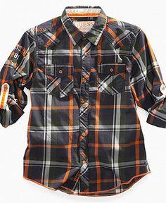 Guess Kids Shirt, Little Boys Pearson Roll-Up Shirt - Kids Shirts - Macy's Men's Shirts, Boys Shirts, Casual Shirts, Up Shirt, Dress Shirt, Baby Girl Dresses, Kids Wear, Little Boys, Kids Boys