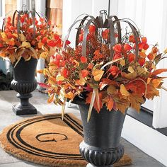 Your home will be the envy of the neighborhood when you dress it up with the unique mix of elements in our designer Autumn Lantern Foliage Collection. Marvelously special Japanese lantern blossoms, blended with an abundance of varying leaves and berries, cast fall decorating in a fabulous new light. Pieces are rich in vibrant autumn hues and are highly dimensional, for added wow factor. What's more, lasting materials mean you can adorn a door, frame a window, or add seasonal pana...
