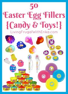50 Easter Egg Fillers {Candy & Toys!} to Buy on Amazon Can you guys believe that Easter will be here before we know it?! It's SO close! I'm getting our stuff prepared by order Easter Egg Fillers on Amazon! If you want to get a head start on your shopping, this list is for you! …