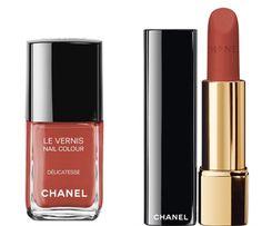 Le Vernis Nail Colour Delicatesse and Rouge Allure Velvet La Delicate Lipstick