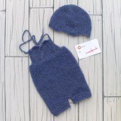 Handmade Newborn photo Props romper Hat wool accessori