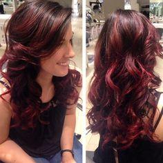 Paola Gonzalez, Cabello Rojo, Por, Peinado, Intentar, Proyectos, Tintes, Colores, Cabellos
