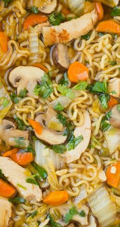 Asian Chicken Noodle Soup ~ This ramen spin on chicken noodle soup is SO DELICIOUS and easy to make