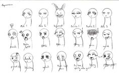chibi expressions reference by silentpassion on DeviantArt Chibi, Face Expressions, Cool Drawings, Face Drawings, Anime Comics, Learn To Draw, Personal Branding, Art Reference, Comic Art