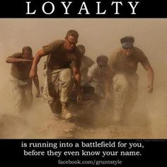 I'm not sure the word for that is loyalty, but it's great for sure. Maybe better word is 'love' or 'sacrifice'?