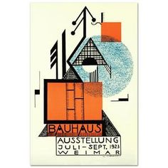 """""""Bauhaus Blue Circle"""" Hand Pulled Lithograph by the RE Society  Rudolf Baschant"""