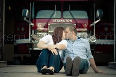 Firehouse Engagement session...I might just use this idea in an upcoming shoot! ;-)