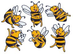 Bee Happy Window Clings