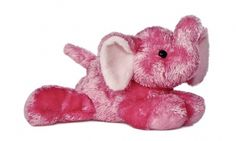 Pink Elephant (Mini Flopsie) at theBIGzoo.com, a family-owned gift shop with 12,000+ animal-themed items.