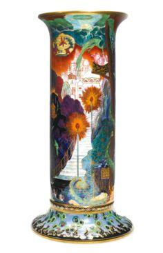 A Wedgwood Fairyland Lustre 'Torches' vase, circa