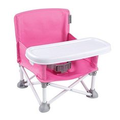 Pop Sit Portable Booster N Infant Summer Pink Baby Chair Seat Toddler High Campi #SummerInfant