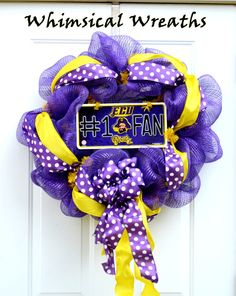 ECU Custom Wreath. $57.00, via Etsy.