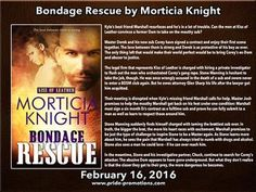 Want the chance to win a signed copy of Morticia Knight's newest book, Bondage Rescue? Go check out the book tour!