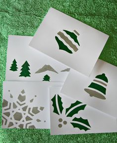 WhiMSy love: DIY: Holiday Stationery with Mod Podge