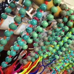 Jewellery mala bracelet turquoise neon style!