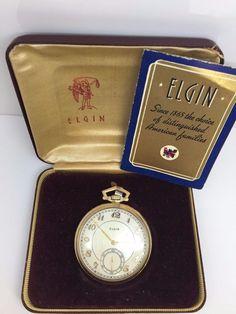 375269931 ELGIN NATIONAL WATCH CO. 15 JEWEL 10K GOLD FILLED POCKET WATCH #Elgin