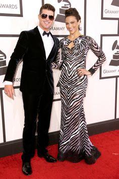 Robin Thicke and Paula Patton at the 2014 Grammy Awards.