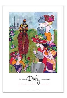 Kentucky Derby Invitation Clip Art | 2010 Kentucky Derby Poster Kentucky Derby Art - Art Prints - By Art of ...