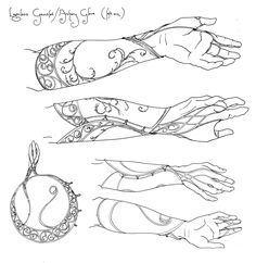 could try this with henna possibly.. Legolas gauntlets concept art: www.wetanz.com/...