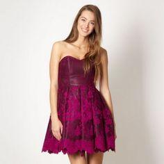 Diamond by Julien Macdonald Purple lace petticoat dress- at Debenhams.com