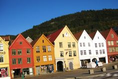 Crooked houses of Bergen Norway