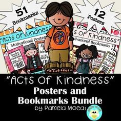 """Random Acts of Kindness are all around us! These posters and bookmarks will prove to be a great way to remind your students that """"Random Acts of Kindness are works of Heart!"""" Great for Valentine's Day or for all year through!"""