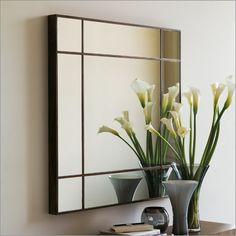 porada four seasons square 100 mirror, wood or gold/silver leaf