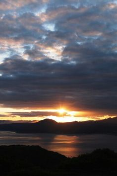 Sunset in Hakodate.