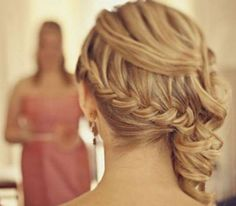 Wedding hair inspiration: French braids and curls. #longhair (Photo by: Pinterest)