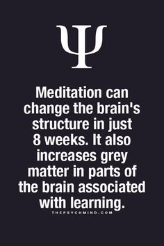 Psychology Facts: Meditation #psychology #meditation thepsychmind.com