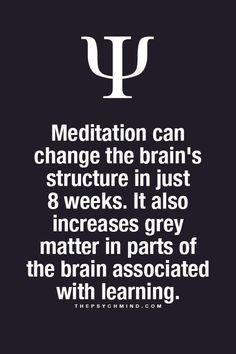Psychology Facts: Meditation #psychology #meditation thepsychmind.com