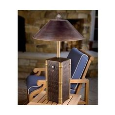 Sumatra Tabletop Electric Patio Heater. They look like decorative table and floor lamps, but these stylish lamps are really outdoor heaters that are perfect accessories for any outdoor living space, including enclosed patios, porches and balconies. Just plug the Sumatra Electric Patio Heater into a grounded 3-plug outlet, and flip on the switch. The outdoor heater's infrared bulb instantly heats, providing up to a 6-ft. circle of warmth.The Sumatra Electric Patio Heater is equipped with a…