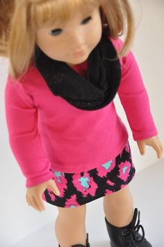 American Girl Doll Clothes Black Pink and by CircleCSewing on Etsy, $15.00
