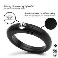 Silicone Ring With Diamond >> Love Due Punti Silicone Diamond Rings Diamond Ring And Weddings
