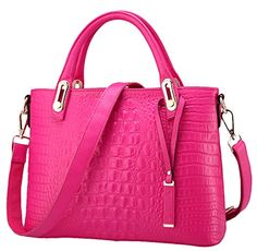 Generic Womens Easycarrying Pink Leather Handbag Medium ** Find out more about the great product at the image link.
