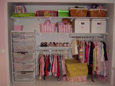 Amazing idea for little people closets especially if you want them to be reaching their own clothes. I would try this for little ones as small as 2 yrs.