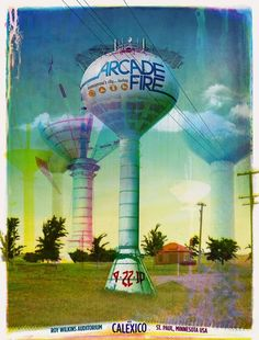 Arcade Fire St. Paul Concert Poster by Wes Winship (large)