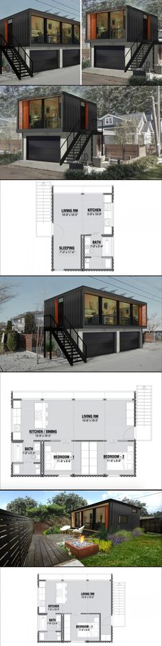 Container House - It's getting easier to fulfill your dreams of living in a shipping container above a garage Who Else Wants Simple Step-By-Step Plans To Design And Build A Container Home From Scratch? Building A Container Home, Container Buildings, Container Architecture, Container Design, Container Cabin, Storage Container Homes, Storage Containers, Future House, Modern Architecture