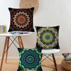 Bohemian Style Mandala Cushion Cover Pillow