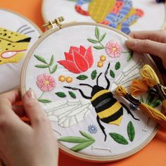 Free hand embroidery patterns available through DMC