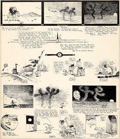 George Herriman Krazy Kat Sunday Comic Strip Original Art (King Features Syndicate, Surreal - Available at 2017 February 23 - 25 Comics &. The Kat, Animation, Classic Comics, Cartoon Icons, Pulp Art, Comic Strips, Comic Art, Vintage World Maps, Original Art