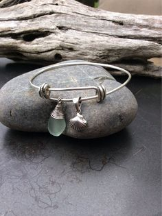 Sea+glass+jewelry++Sterling+silver+expandable+by+FatCatsOnTheBeach,+$35.00