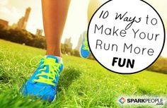10 Ways to Add Variety to Your Runs Slideshow via @SparkPeople - (one suggestion is to run with a purpose eg to the store to pick up one or two small items needed)