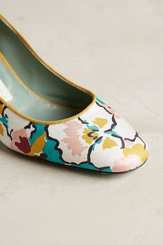 Granny-chic heels at its finest.