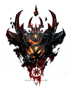 Shadow Fiend illustration, Dota 2 by TGnow