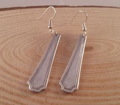 Upcycled Silver Plated Regency Handle Earrings £5.00