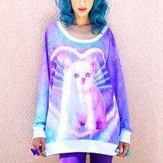 WANT IT. Dream Galaxy Cat Jumper